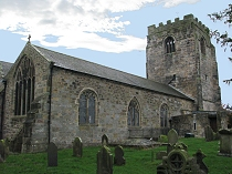 North wall and tower at St Cynfarch's Church Hope