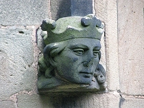 King headstop (Henry Tudor?) at All Saint's Church