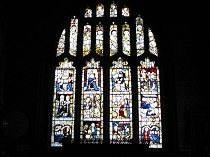 Stained glass window in Lady Chapel All Saint's Church