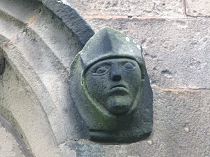 Knight headstop at All Saint's Church