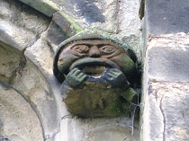 Grotesque carving at All Saint's Church