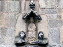Weather worn Virgin and Child at All Saint's Church