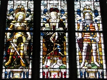 Stained Glass window St Giles Church Wrexham