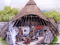 Artist's impression of Din Lligwy Ancient Village