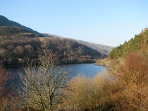 First view of Llyn Crafnant