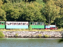 Views across the lake of the Llanberis Railway