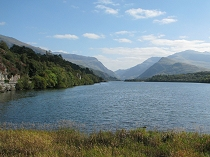 Fine view of Lake Padarn and Snowdon