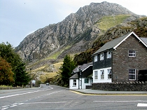 Ogwen cottage with Tryfan as backdrop