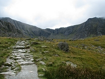 Cwm Idwal comes into view.