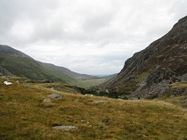Looking north to the Nant Ffrancon Valley