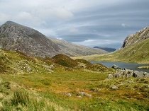 Looking toward Ogwen Valley from Cwm Idwal