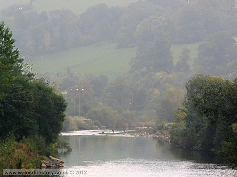 Enlarged picture of River Usk at Brecon