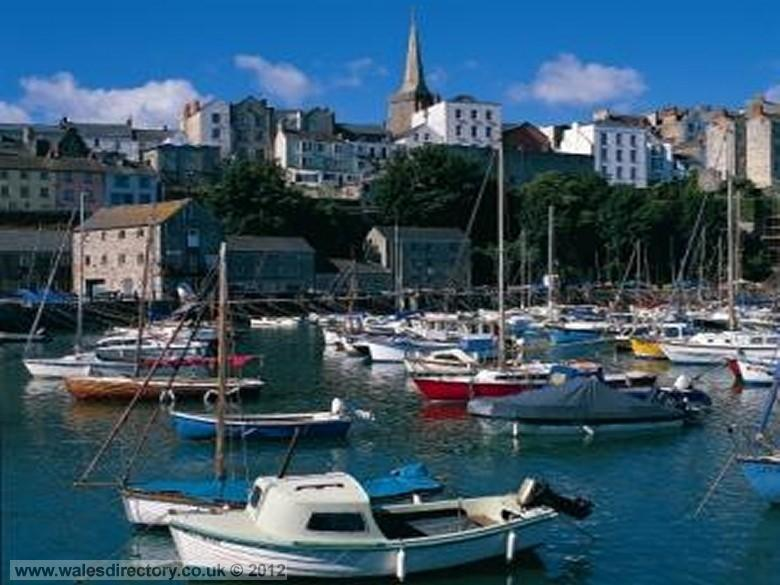 Enlarged picture of Tenby Town and Harbour