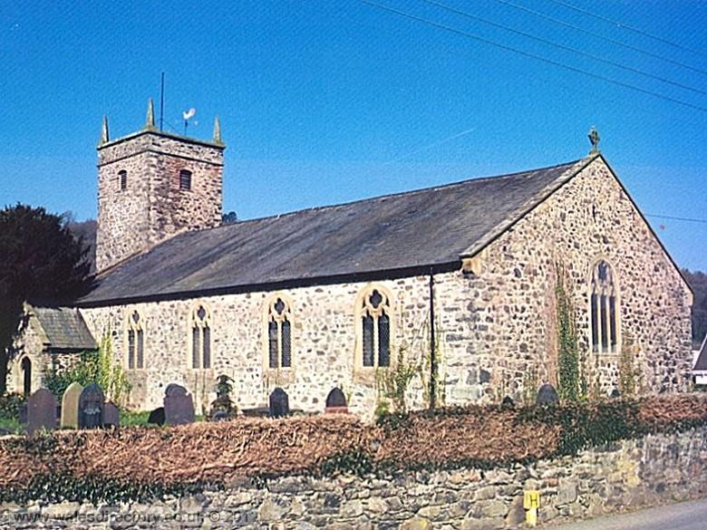 Enlarged picture of St Martins Church Eglwysbach