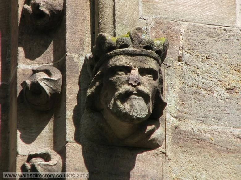 Enlarged picture of Stone Carving of Kings Head