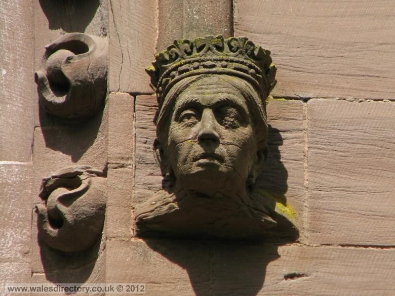 Enlarged picture of Stone Carving of Queens Head