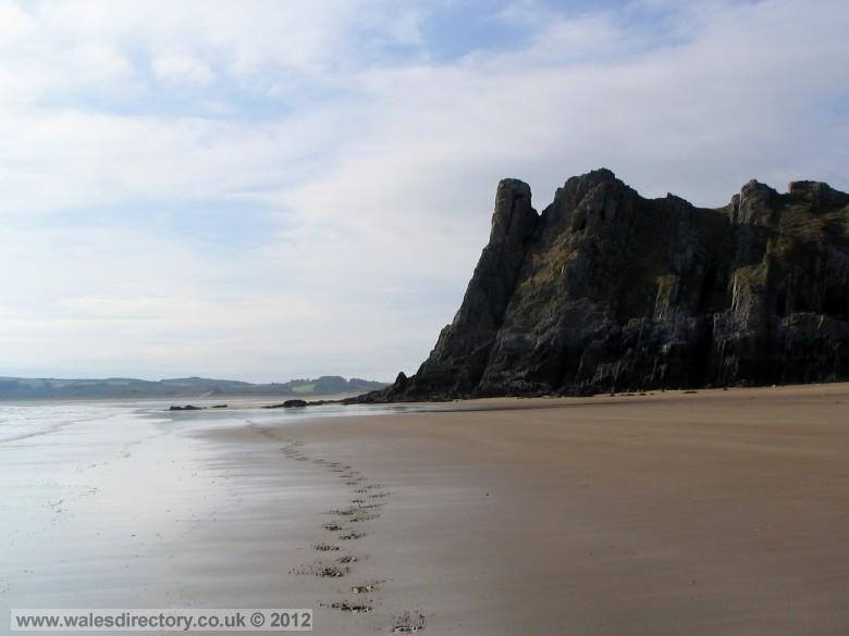 Enlarged picture of Three Cliffs Bay