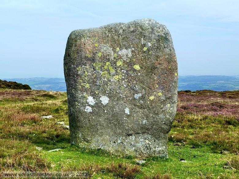 Enlarged picture of Maen Penddu Standing Stone