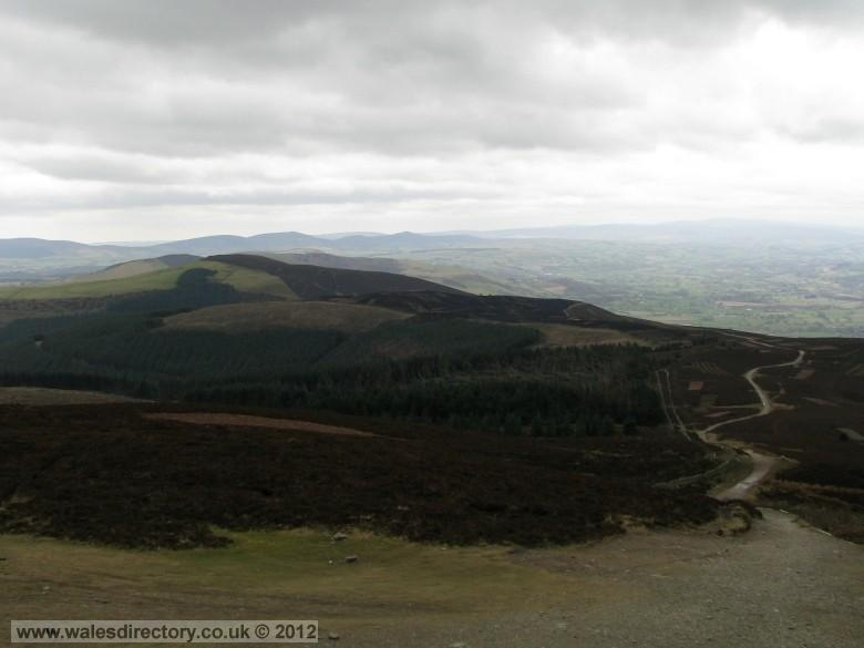 Enlarged picture of Offas Dyke Trail at Moel Famau