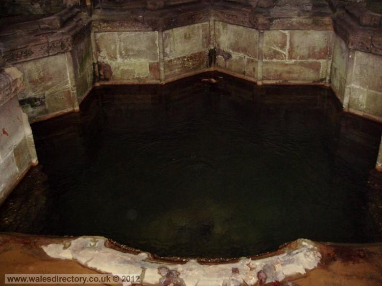 Enlarged picture of Well Pool Spring at St Winefrides Well