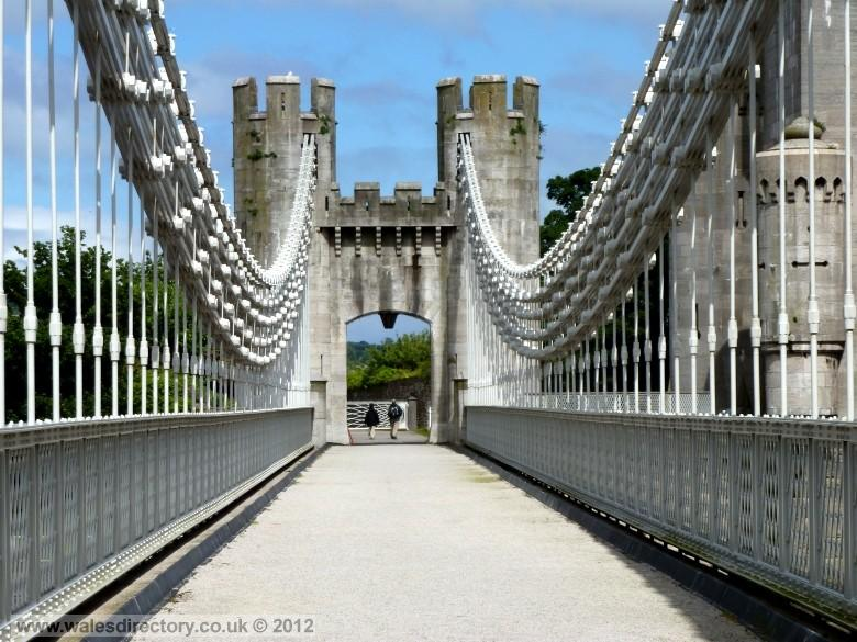 Enlarged picture of Conwy Suspension Bridge