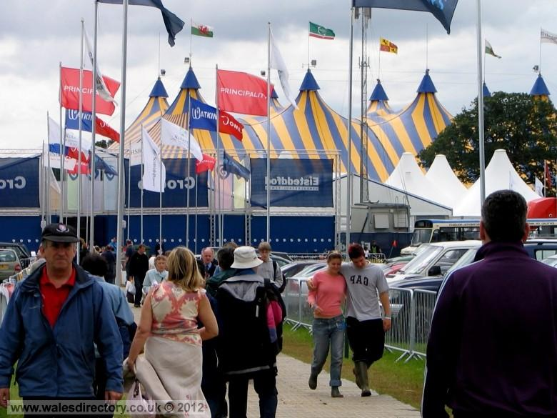Enlarged picture of Flags over the Maes at Eisteddfod