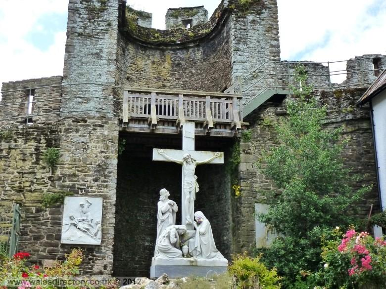 Enlarged picture of Crucifixion at Conwy Town Walls