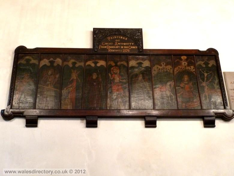 Enlarged picture of Medieval Painted Wooden Panels.
