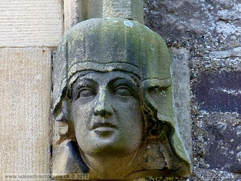 Enlarged picture of Stone Carving of a Queens Head