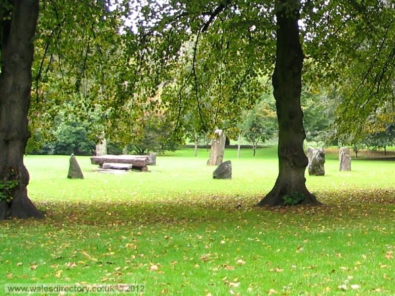 Enlarged picture of Bute Park Gorsedd Stone Circle