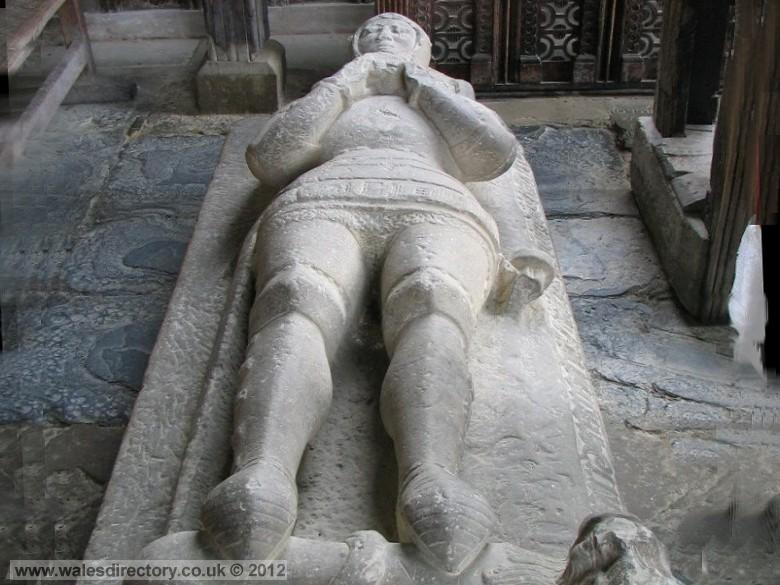 Enlarged picture of Stone Effigy of Hywel Coetmor